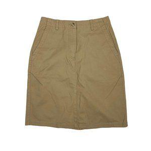 L.L.Bean 4 Tan Straight Skirt Pencil 26 X 21 Basic